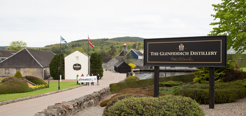Glenfiddich Whisky Brennerei Schottland Speyside Zufahrt