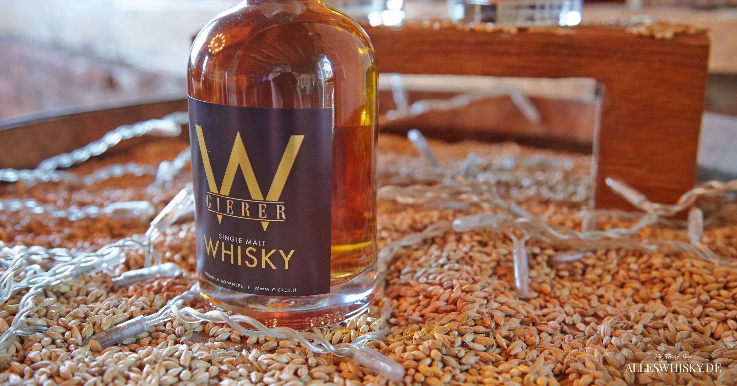 Gierer Whisky Präsentation im Shop