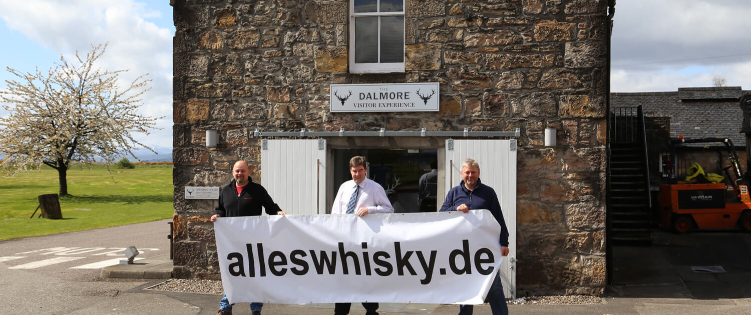 Dalmore Brennerei Besuch Mai 2015 mit Distillery Manager Stuart Robertson