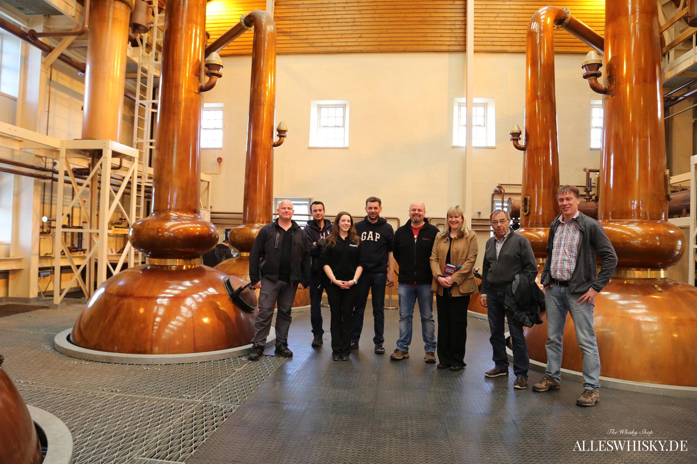 Reisegruppe im Glenmorangie Brennhaus