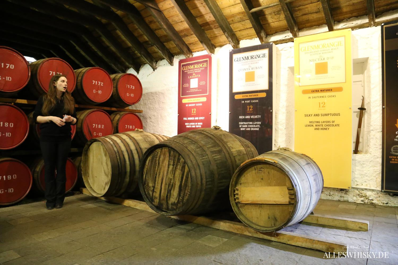 Im Glenmorangie Warehouse - Original, Quinta Ruban, Nectar D´Or und Lasanta