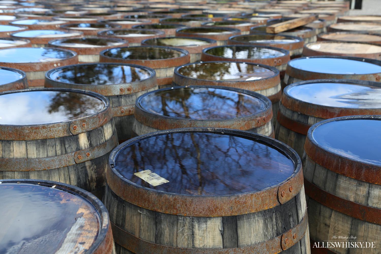 Glenmorangie - Fässer warten auf die weitere Verarbeitung