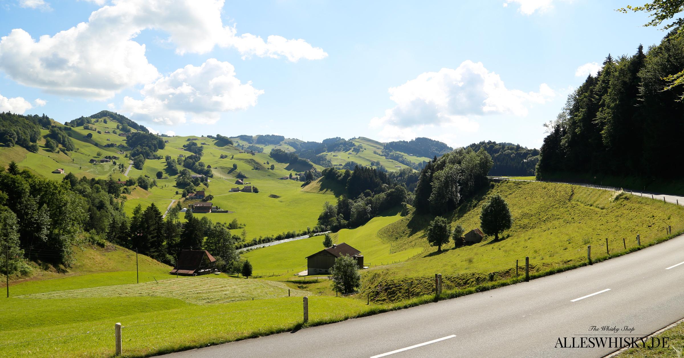 Wunderschöne Appenzeller Hügellandschaft