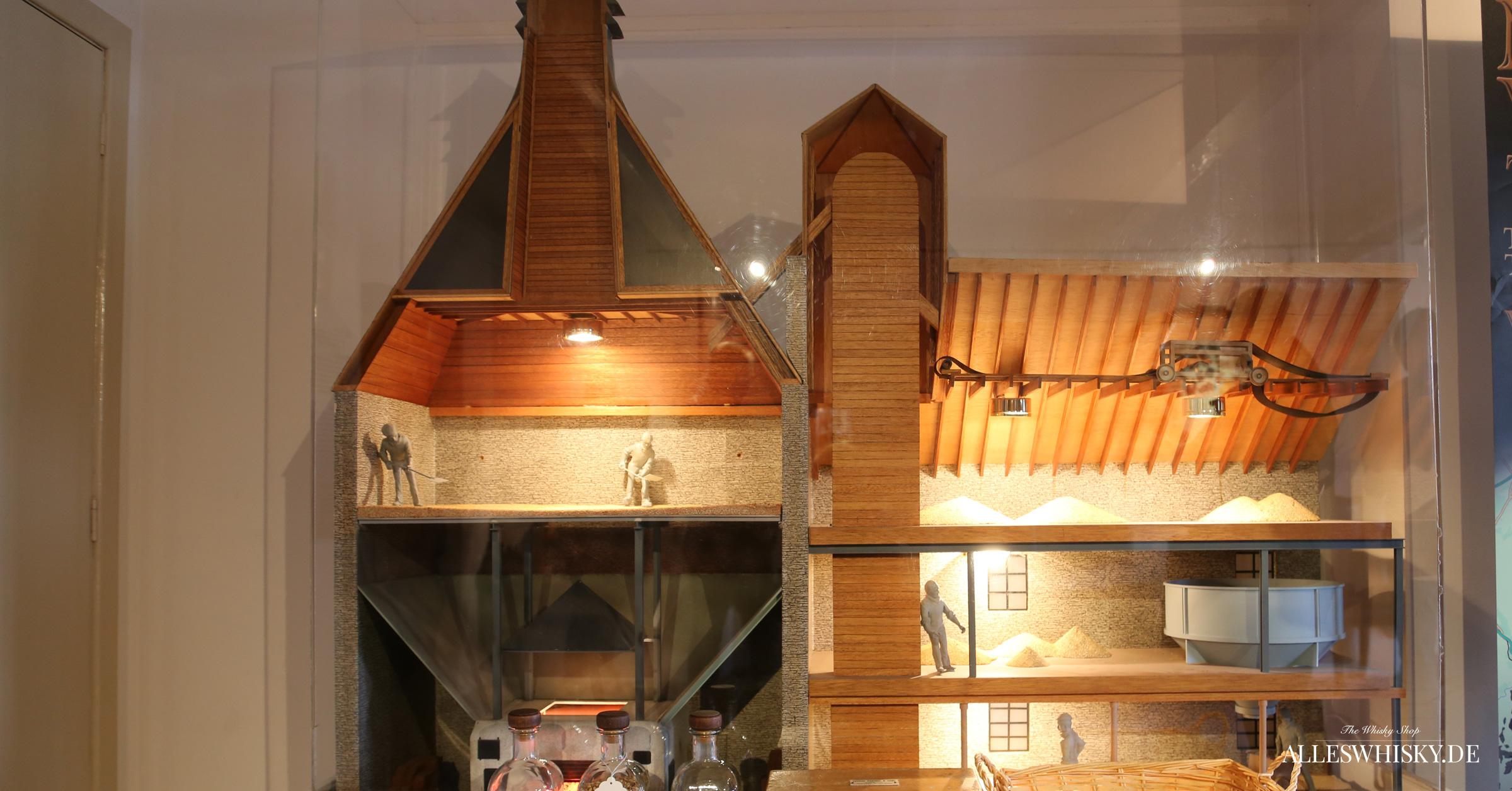 Cardhu Brennerei Modell im Visitor-Centre