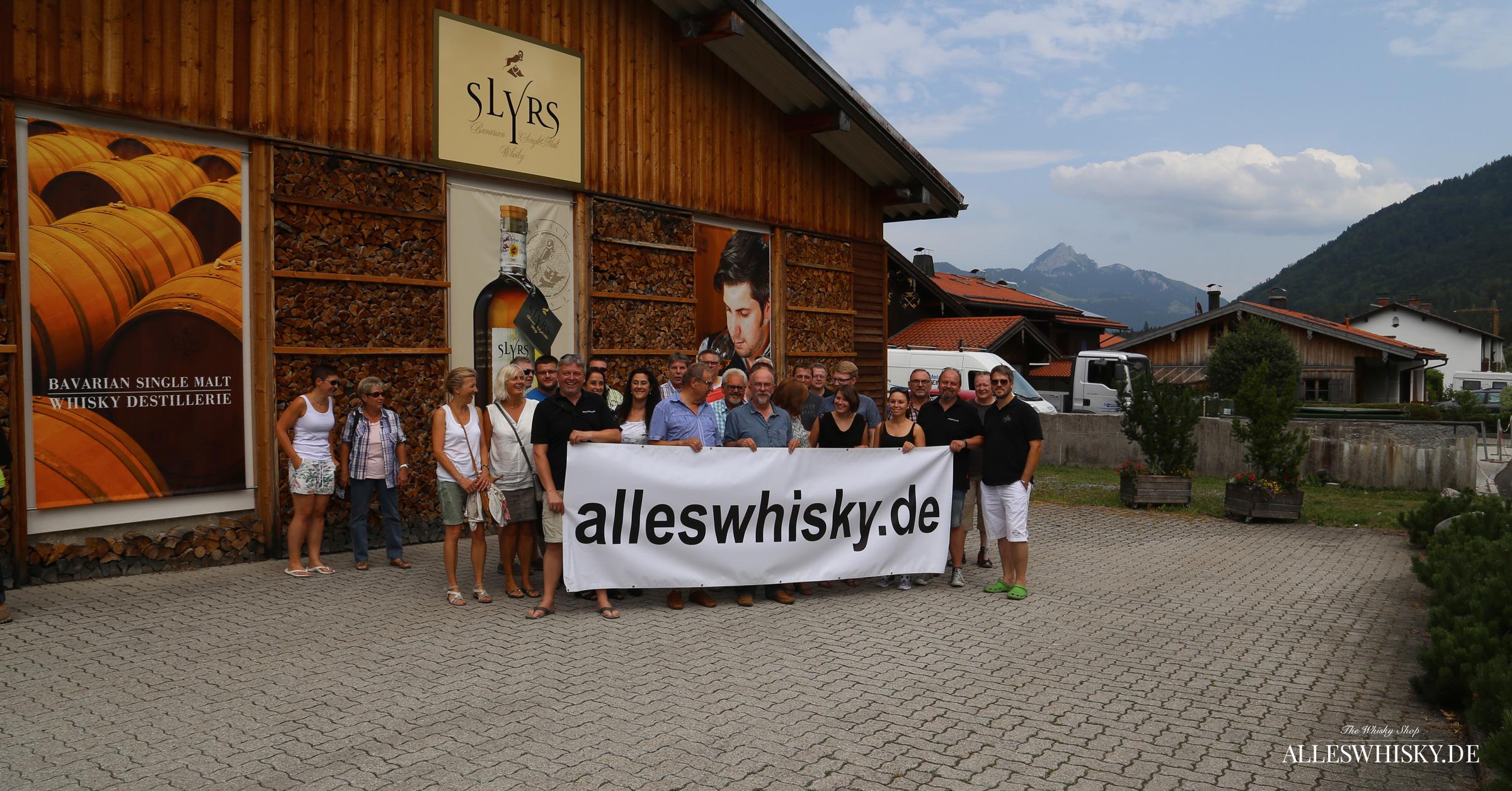 alleswhisky besucht mit einer größeren Reisegruppe am 18. Juli 2015 die Lantenhammer und Slyrs Brennerei