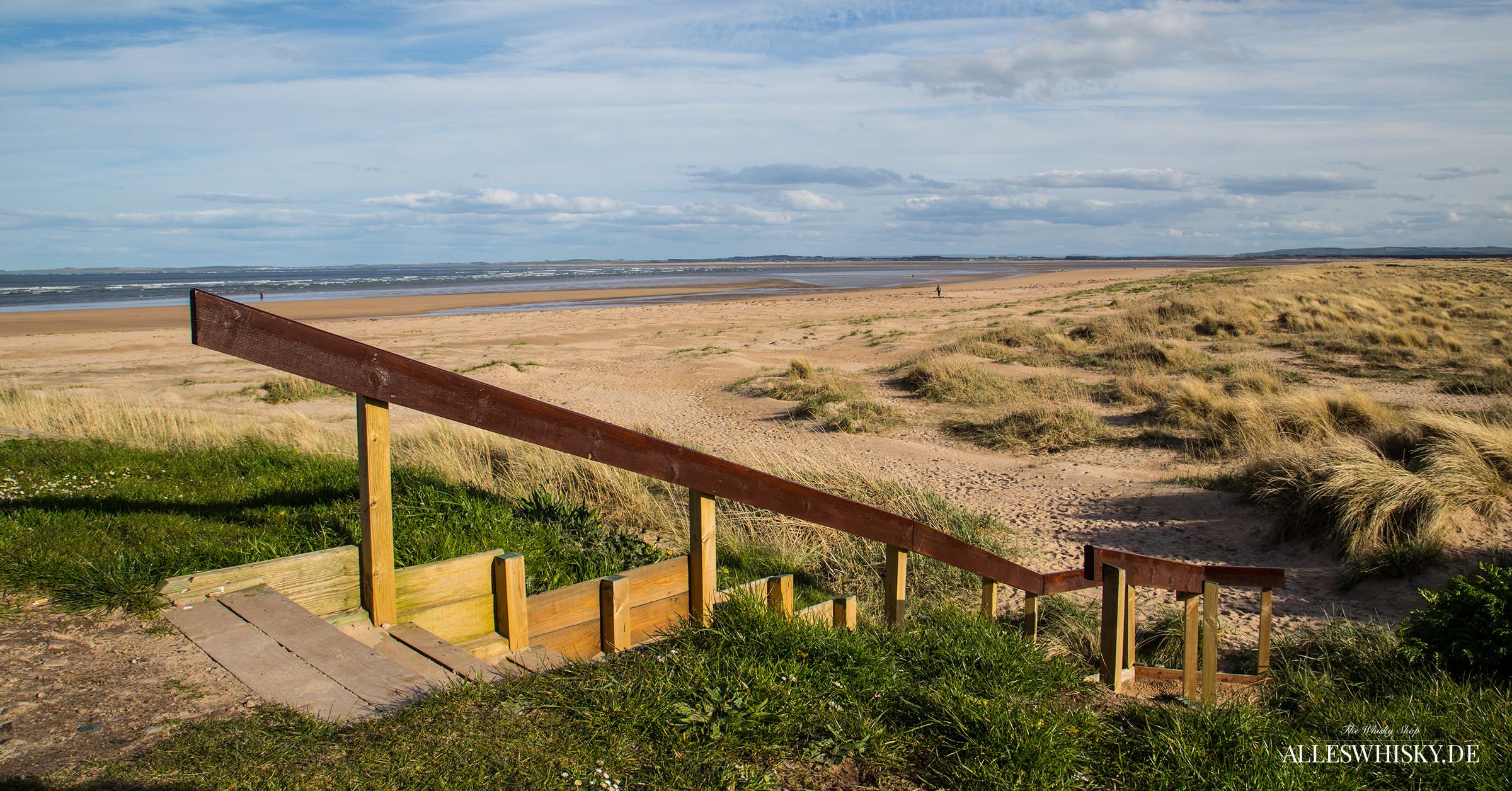 Schier unendliche Weite am Strand des Dornoch Firth
