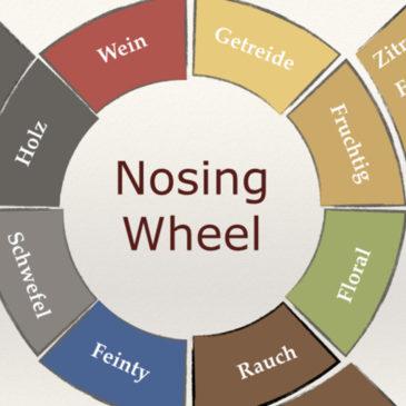 Geschmackseinteilung mit dem Whisky Nosing Wheel