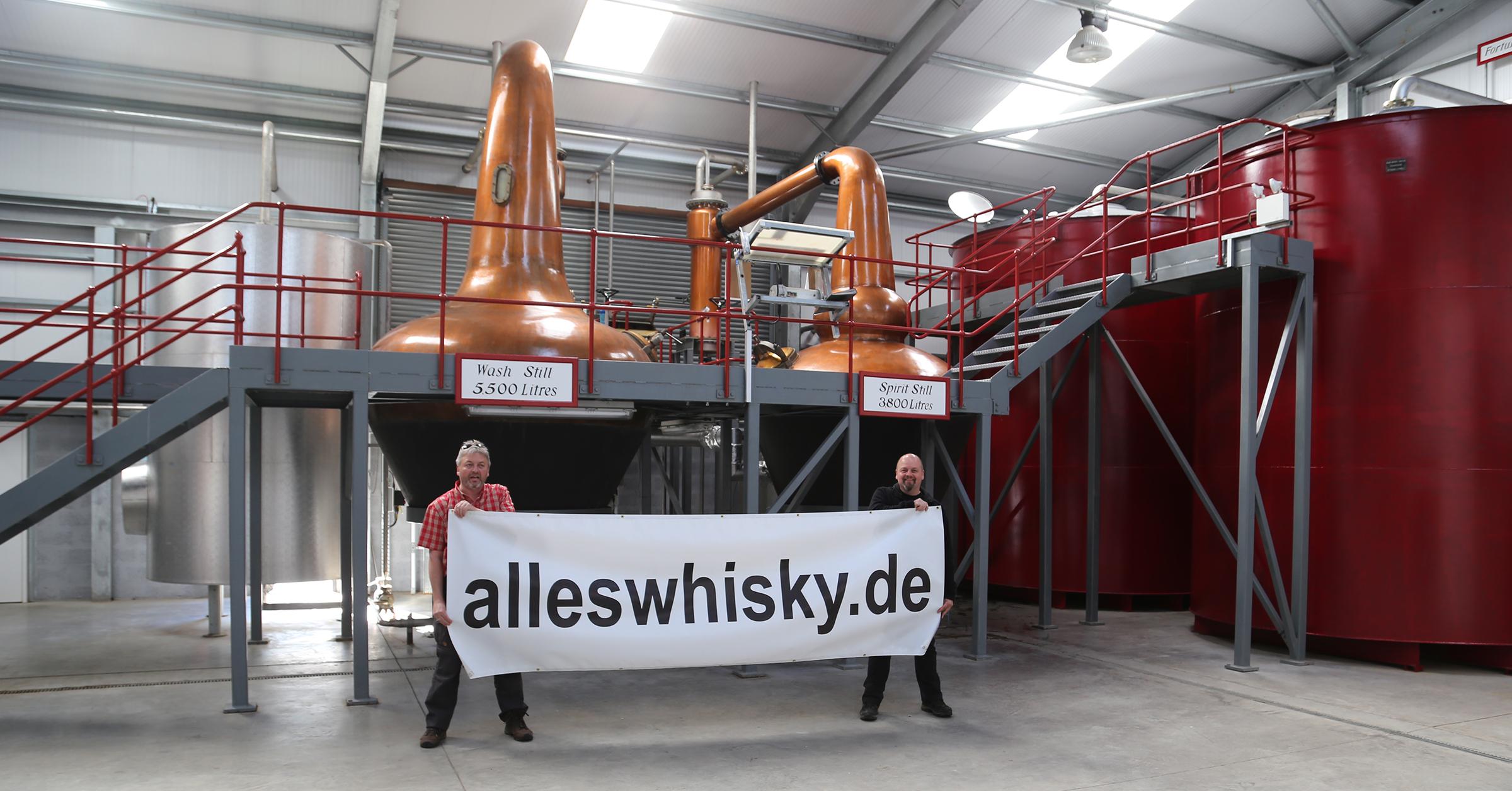Wolfburn Distillery Thurso alleswhisky Besuch Pot Stills Mai 2015