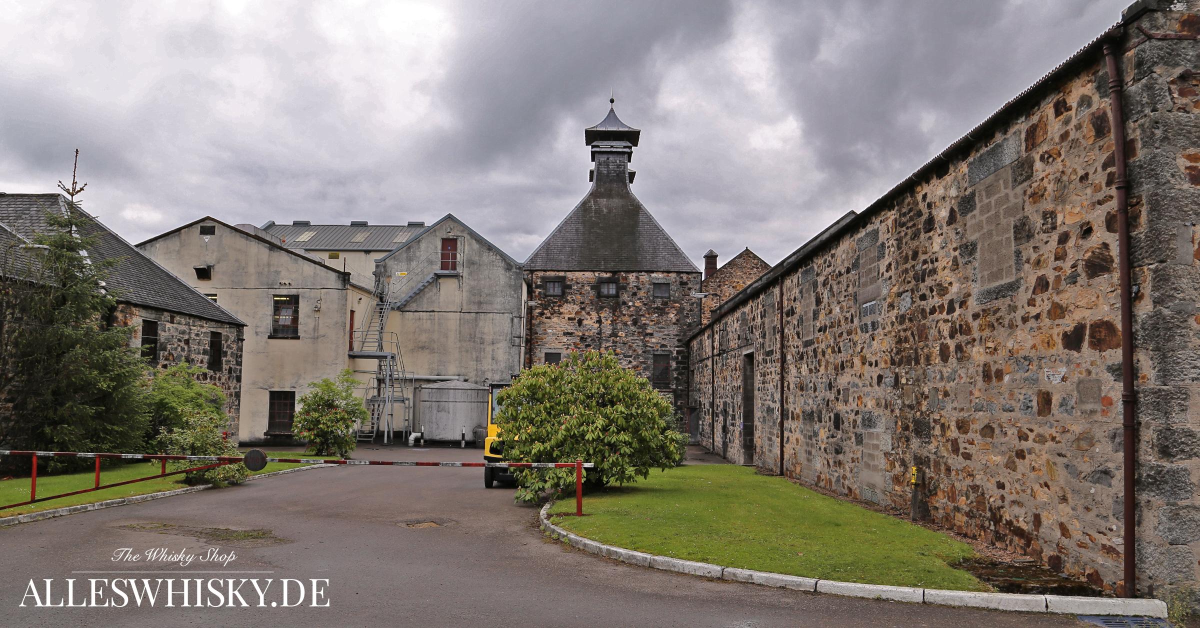 Glentauchers Malt Whisky Brennerei im Mai 2014 mit Kiln