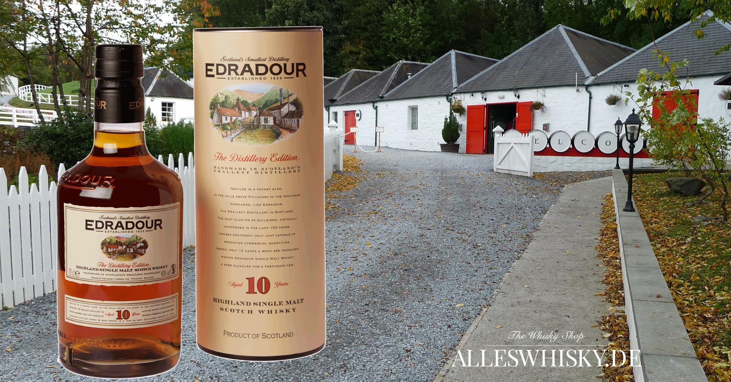 Edradour 10 Jahre Whisky Brennerei Eingang Oktober 2011