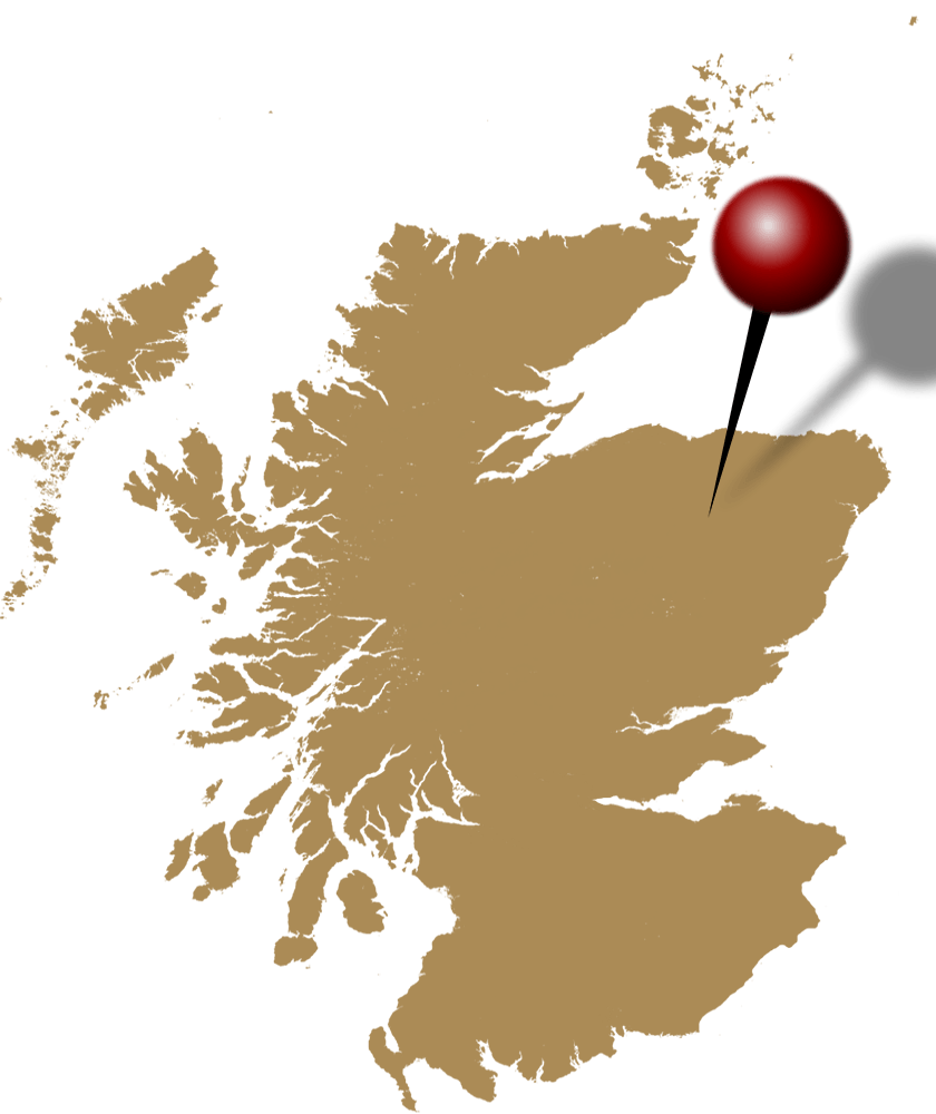 Schottland Karte Whisky.Ardmore Whisky Brennerei Schottland Highlands Standort Landkarte